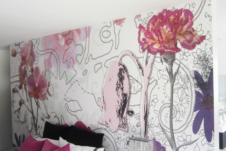 Wall Covering - Floral Mural
